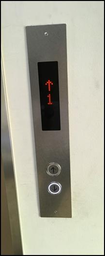 新:乗場操作盤(ステンレスプレート・デジタル表示)