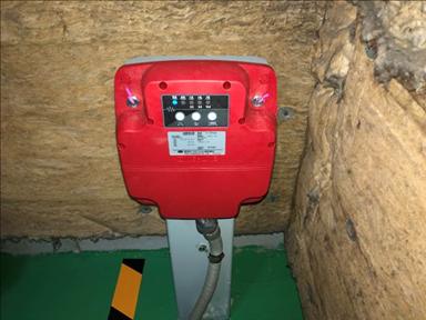 耐震対策:地震時管制運転装置 ※地震発生時、エレベーターを最寄階に停止させ扉を開きます。