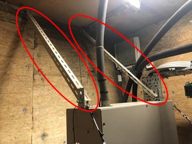 耐震対策:制御盤転倒防止固定金具